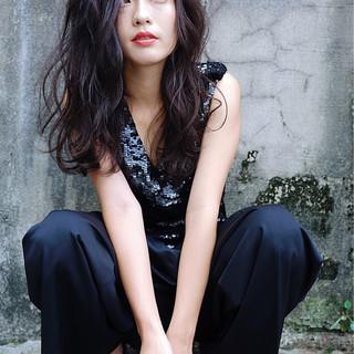 ロング 外国人風 アッシュ モード ヘアスタイルや髪型の写真・画像 ヘアスタイルや髪型の写真・画像