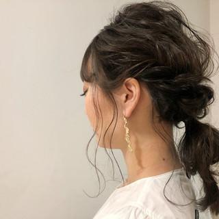 大人かわいい 簡単ヘアアレンジ ロング オフィス ヘアスタイルや髪型の写真・画像 ヘアスタイルや髪型の写真・画像