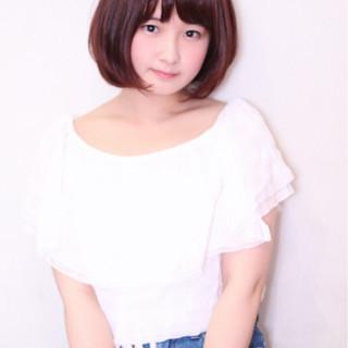 キュート コーラル ハイライト ピュア ヘアスタイルや髪型の写真・画像