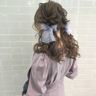 デート お呼ばれヘア ロング ヘアアレンジ ヘアスタイルや髪型の写真・画像 ヘアスタイルや髪型の写真・画像