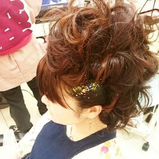 和服 お祭り セミロング 着物 ヘアスタイルや髪型の写真・画像 ヘアスタイルや髪型の写真・画像