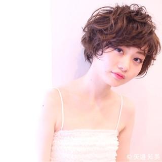 かわいい パーマ ガーリー ゆるふわ ヘアスタイルや髪型の写真・画像