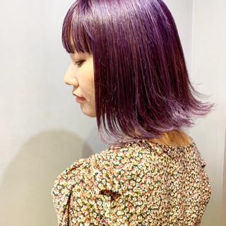 ネイビーカラー ラベンダーピンク アッシュベージュ ハンサムショート ヘアスタイルや髪型の写真・画像
