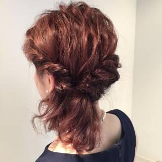 アップスタイル ヘアアレンジ 大人かわいい ルーズ ヘアスタイルや髪型の写真・画像 ヘアスタイルや髪型の写真・画像