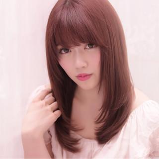 外国人風 フェミニン ガーリー 縮毛矯正 ヘアスタイルや髪型の写真・画像