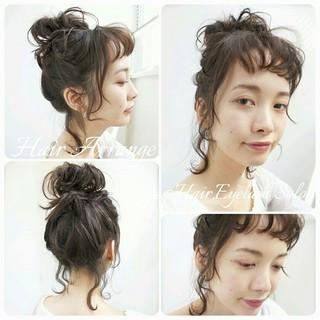 ショート 前髪あり ヘアアレンジ 簡単ヘアアレンジ ヘアスタイルや髪型の写真・画像