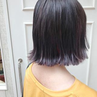 ガーリー デート ブリーチ ボブ ヘアスタイルや髪型の写真・画像