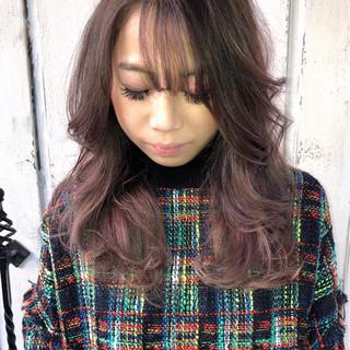 モード 斜め前髪 2wayバング シースルーバング ヘアスタイルや髪型の写真・画像