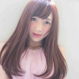 ナチュラル ピンク モテ髪 スウィート ヘアスタイルや髪型の写真・画像