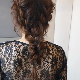 ヘアアレンジ 大人かわいい 結婚式 デート ヘアスタイルや髪型の写真・画像