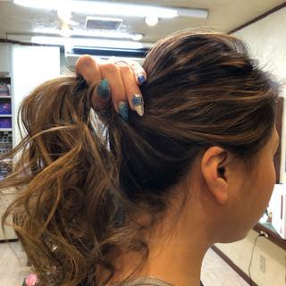 バレイヤージュ 透け感ヘア 透明感カラー ロング ヘアスタイルや髪型の写真・画像