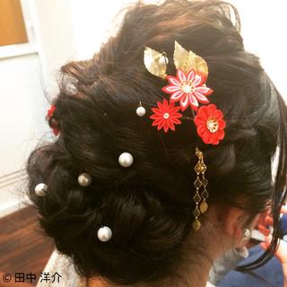 ヘアアレンジ ゆるふわ 編み込み まとめ髪 ヘアスタイルや髪型の写真・画像