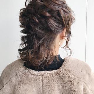 ボブ ヘアアレンジ バレンタイン 愛され ヘアスタイルや髪型の写真・画像 ヘアスタイルや髪型の写真・画像