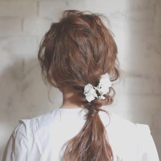 フェミニン ショート ゆるふわ 結婚式 ヘアスタイルや髪型の写真・画像