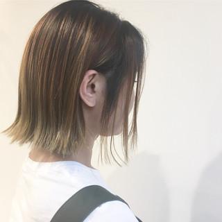 ボブ 外国人風 ストリート バレイヤージュ ヘアスタイルや髪型の写真・画像
