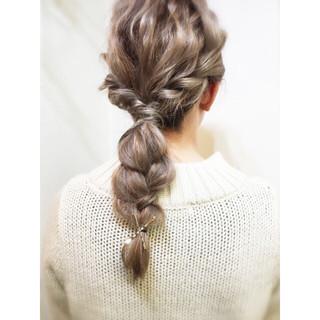 ヘアアレンジ 編み込み ハーフアップ ミディアム ヘアスタイルや髪型の写真・画像