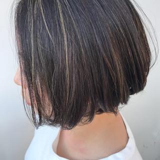 オフィス ハンサムショート コンサバ ハイライト ヘアスタイルや髪型の写真・画像