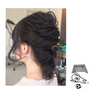 ヘアピン 簡単ヘアアレンジ ヘアアレンジ ナチュラル ヘアスタイルや髪型の写真・画像