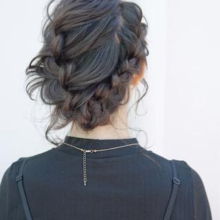 ヘアアレンジ ゆるふわ ショート 大人女子 ヘアスタイルや髪型の写真・画像