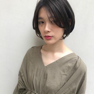 ナチュラル ショート かっこいい 似合わせ ヘアスタイルや髪型の写真・画像