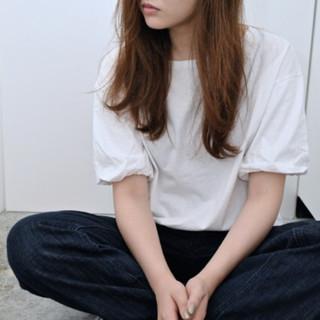 アッシュ モード ナチュラル 暗髪 ヘアスタイルや髪型の写真・画像