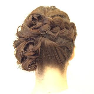 簡単ヘアアレンジ フェミニン ショート ヘアアレンジ ヘアスタイルや髪型の写真・画像