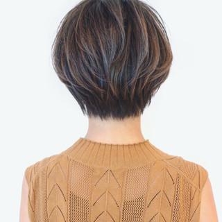 バレイヤージュ グラデーションカラー ショート ショートボブ ヘアスタイルや髪型の写真・画像 ヘアスタイルや髪型の写真・画像