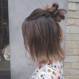 ボブ 夏 涼しげ ストリート ヘアスタイルや髪型の写真・画像