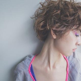 前髪あり 外国人風 ショート ピュア ヘアスタイルや髪型の写真・画像 ヘアスタイルや髪型の写真・画像
