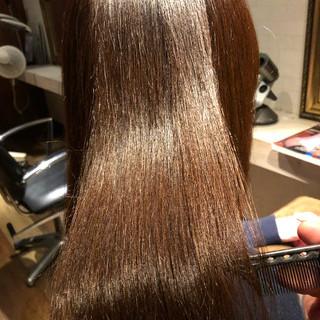 ナチュラル 美髪 縮毛矯正 髪質改善 ヘアスタイルや髪型の写真・画像