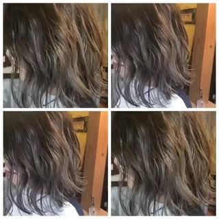 ボブ グラデーションカラー ストリート ダブルカラー ヘアスタイルや髪型の写真・画像