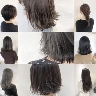 透明感カラー ミディアム ハイライト 外国人風カラー ヘアスタイルや髪型の写真・画像