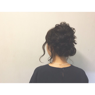 黒髪 簡単ヘアアレンジ ショート ミディアム ヘアスタイルや髪型の写真・画像