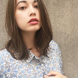 女子力 ミディアム オフィス ナチュラル ヘアスタイルや髪型の写真・画像