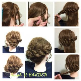 ゆるふわ ヘアアレンジ ガーリー パーティ ヘアスタイルや髪型の写真・画像