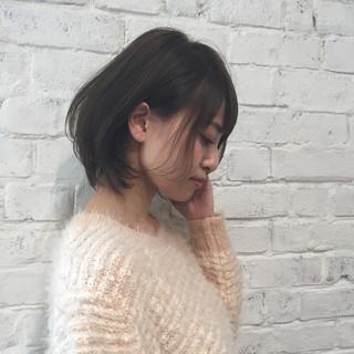 フェミニン ショート 冬 ヘアスタイルや髪型の写真・画像