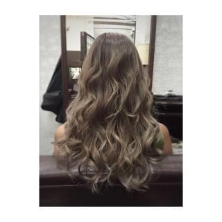 グレージュ 外国人風カラー 外国人風 アッシュ ヘアスタイルや髪型の写真・画像