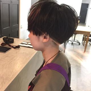 ナチュラル 小顔ショート ハンサムショート ショートヘア ヘアスタイルや髪型の写真・画像