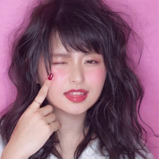 グレージュ セミロング アッシュ 暗髪 ヘアスタイルや髪型の写真・画像 ヘアスタイルや髪型の写真・画像