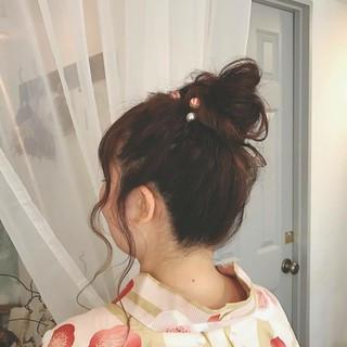 大人かわいい デート ヘアアレンジ ロング ヘアスタイルや髪型の写真・画像