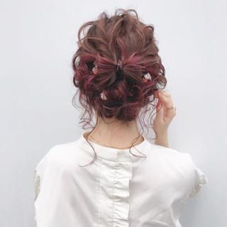 大人かわいい 結婚式 ガーリー ヘアアレンジ ヘアスタイルや髪型の写真・画像