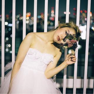 ミディアム ナチュラル 結婚式 大人かわいい ヘアスタイルや髪型の写真・画像