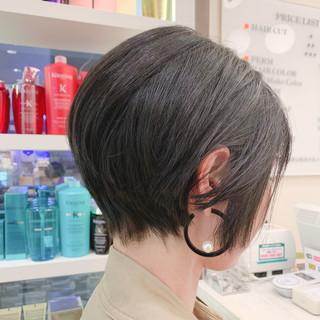 ショートボブ ハンサムショート ショートヘア ショート ヘアスタイルや髪型の写真・画像