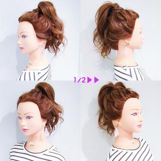 デート ヘアアレンジ 簡単ヘアアレンジ オフィス ヘアスタイルや髪型の写真・画像