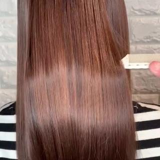 髪質改善 髪質改善トリートメント 簡単ヘアアレンジ セミロング ヘアスタイルや髪型の写真・画像