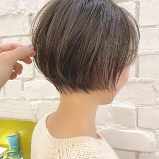 ミニボブ ショート ベリーショート 切りっぱなしボブ ヘアスタイルや髪型の写真・画像
