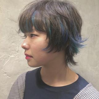 ショート ニュアンス マッシュ ウルフカット ヘアスタイルや髪型の写真・画像 ヘアスタイルや髪型の写真・画像