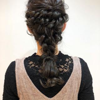 デート ヘアアレンジ 結婚式 アンニュイほつれヘア ヘアスタイルや髪型の写真・画像