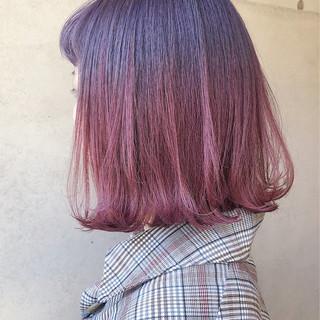 ピンクラベンダー ストリート ラベンダーカラー ピンクカラー ヘアスタイルや髪型の写真・画像