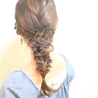 夏 ナチュラル 外国人風 ハーフアップ ヘアスタイルや髪型の写真・画像